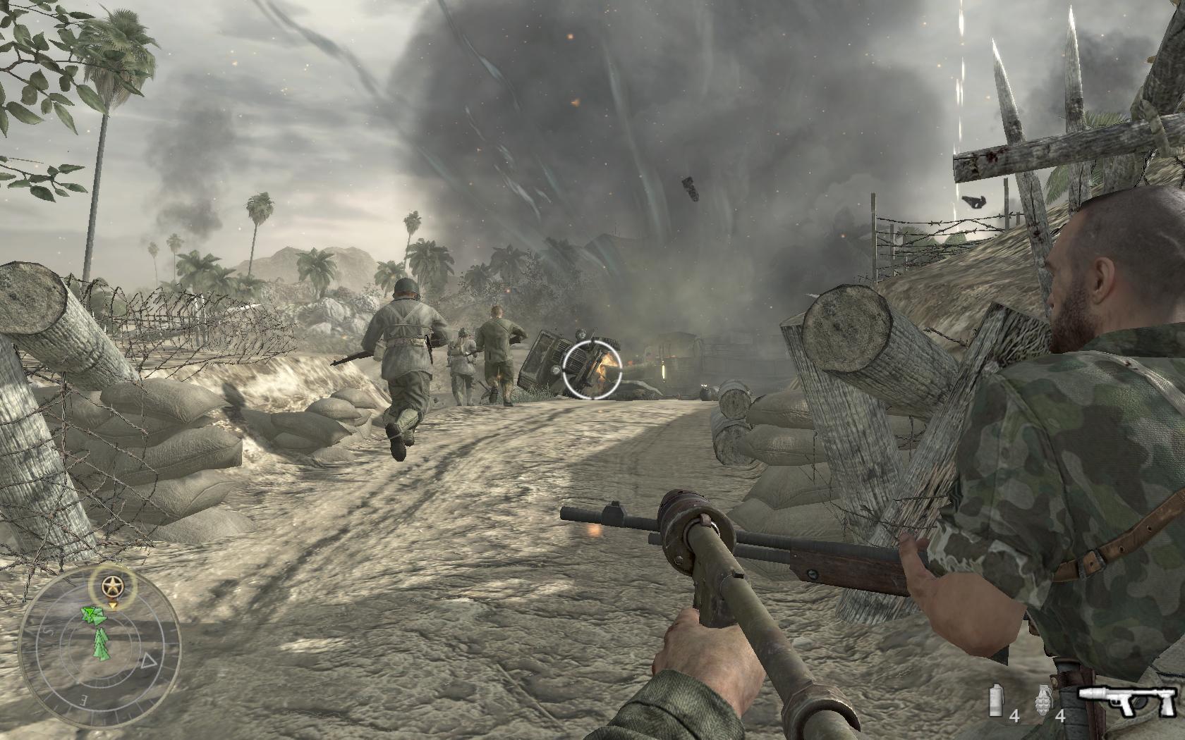 《使命召唤5:战火中的世界》战场氛围营造