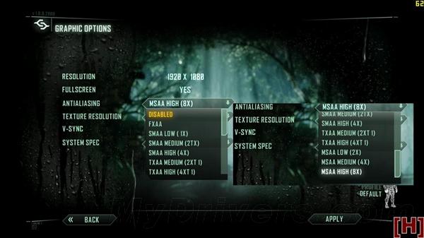 《Crysis 3》显卡性能、画质大乱斗
