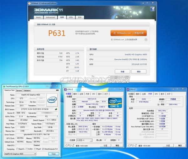 就指望你了:Haswell HD4600核显更多测试