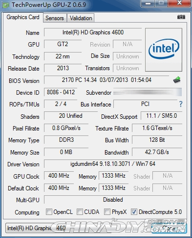 Haswell i5详尽测试:CPU失望 GPU抢眼