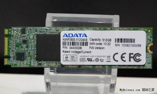 1.8GB/s全球最快 威刚NGFF固态盘也来了
