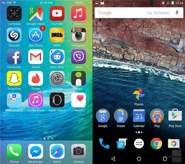 Android M与iOS 9上手评测对比:就差虚拟键了的照片 - 3