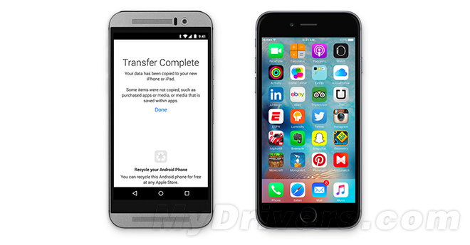 iOS 9正式版发布的同时,苹果自家的安卓应用Move to iOS也是悄然上线,其主要是帮助Android设备中的数据和应用转移到iPhone中。 Move to iOS推出后,将成为苹果抢夺大量安卓用户的利器,而在这之前,他们还推出了一款安卓应用Apple Music。 整体上来说,Move to iOS允许Android用户安全无缝的把联系人、消息记录、相机照片和视频、网络书签、电子邮件帐户、日历、墙纸、歌曲和书籍等无线传输到iPhone中。 不得不说,在争夺Android用户上,这是迄今苹果采取的