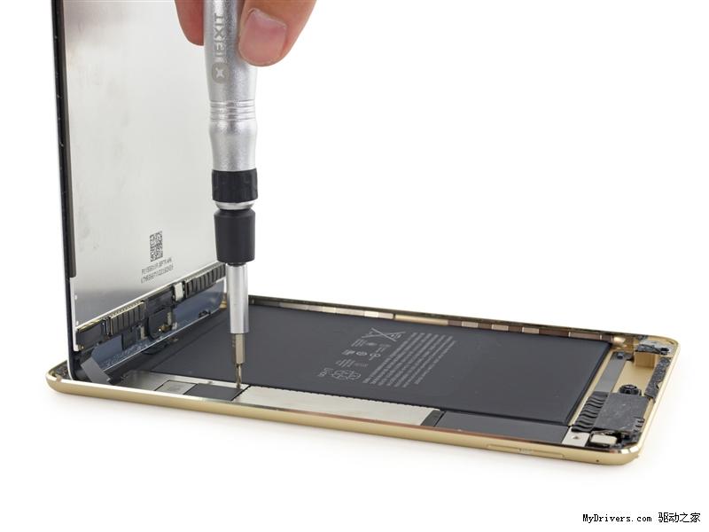 iPad mini 4首发拆解!内存确认 电池竟然大缩水