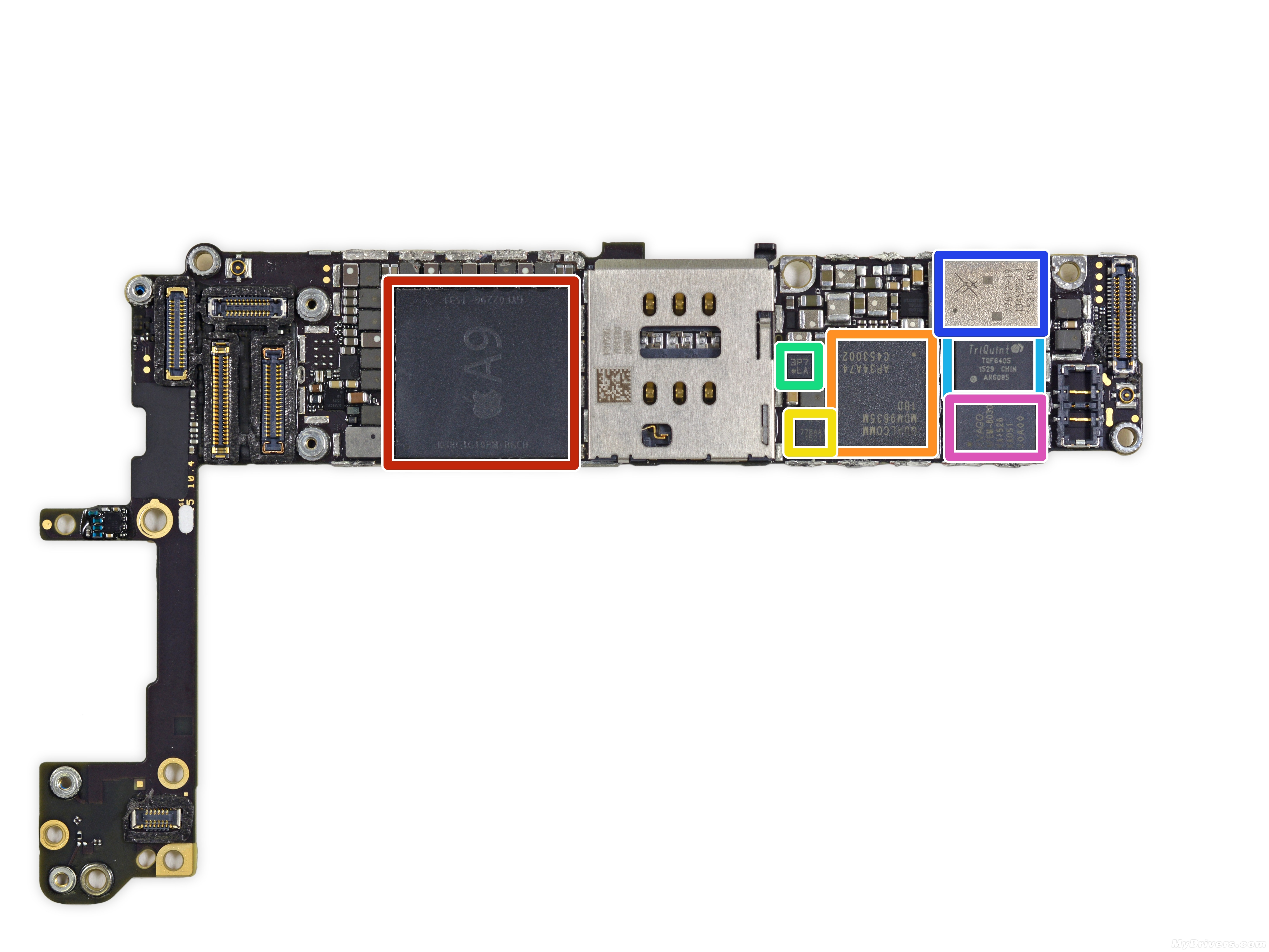 三星t211手机主板芯片图解