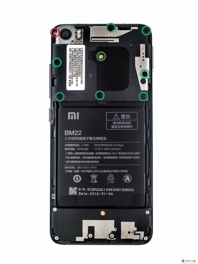 """小米5详尽拆解:全面探寻""""黑科技"""""""