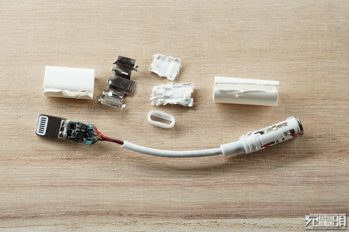 苹果耳机转接线拆解步骤图