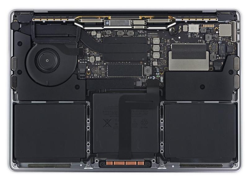 13寸Touch Bar版Macbook Pro拆解:修复性低到哭