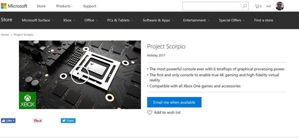 确认!Xbox天蝎座圣诞上市:4K/VR统统都有