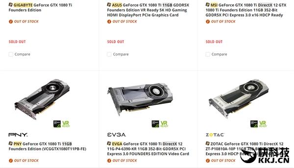5699元!NV GTX 1080 Ti刚上市就卖空:加价1千