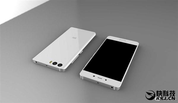 网友自制小米6白色版渲染图:双玻璃机身+双摄