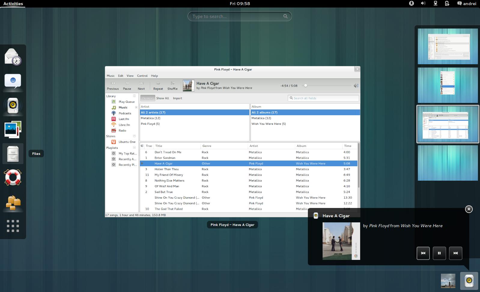 Ubuntu系统重回GNOME界面,桌面环境看起来更加华丽