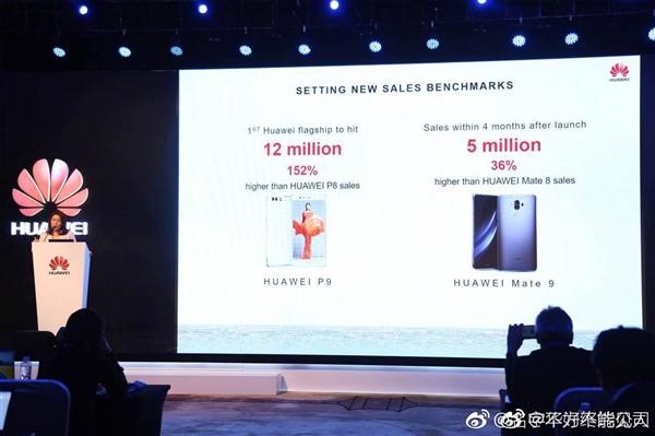 华为Mate 9销量首次曝光:四个月狂卖500万部