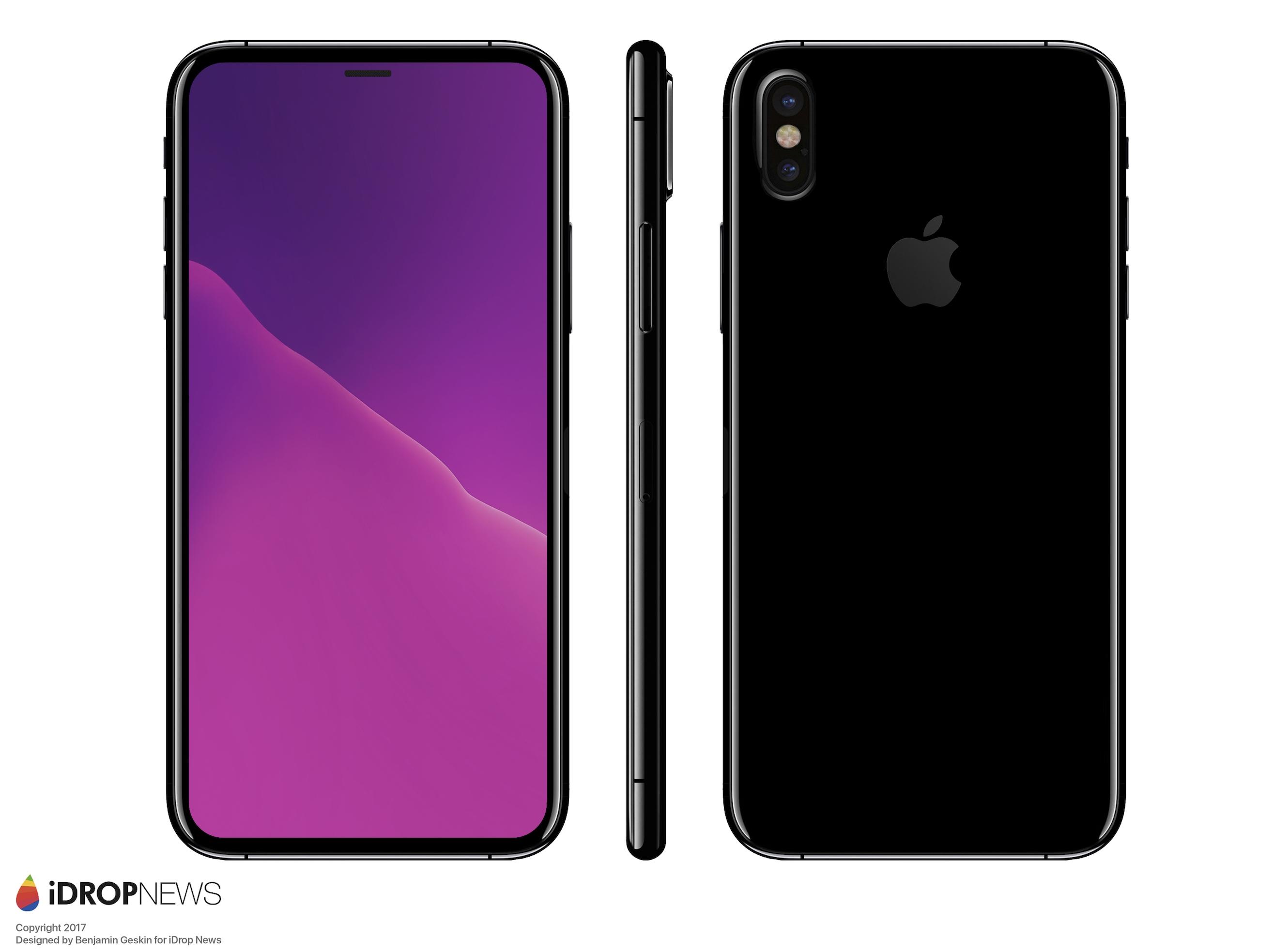 今天早些时候,我们报道了苹果iPhone 8测试机的新闻,只有文字的描述显然不够形象,所以iDrop将他们从富士康收到的这些绝密情报给展现了出来。 用iDrop的话说,iPhone 8最后的外形大体就是这样了,手机前面板的上下左右边框都是4mm,由于取消了Home键,采用了更激进的全面屏设计,所以即使配备的是5.