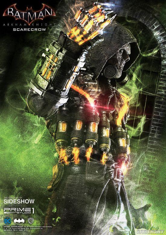 6200元《蝙蝠侠:阿甘骑士》超恐怖1米稻草人模型