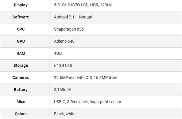 夏普骁龙835旗舰AQUOS R真机图赏:120Hz 2K屏