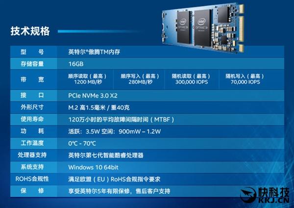 379元 Intel傲腾闪存加速盘国内首发开卖