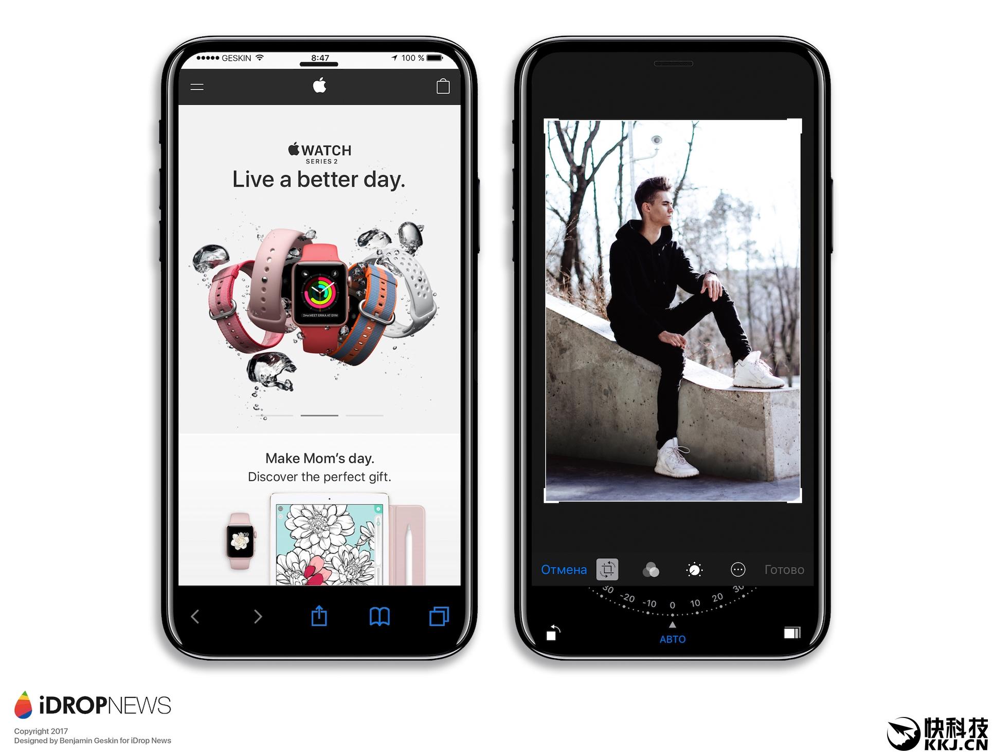 现在,有国外用户曝光了iPhone 8 CAD设计图,并且强调所有的数据都是来自富士康内幕,跟苹果最终版完全吻合。 仔细分析后你会发现,这个所谓的iPhone 8 CAD设计图跟之前曝光的消息基本一致,机身正面看不到Home键,当然背部也没有开孔,其次双摄像头是竖排,且微微凸起。 此外,还有一个细节,那就是iPhone 8的电源按键变长了很多,依然提供静音按键,整机看起来很圆润,当然机身也比较纤薄。   有意思的是,外媒iDROP也是放出了他们最新设计的iPhone 8效果图,这都是建立在目前新机靠谱的传