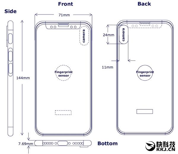 苹果无解!iPhone 8最新外形图:背面指纹