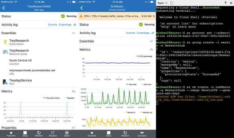 微软推出iOS和Android版Azure应用