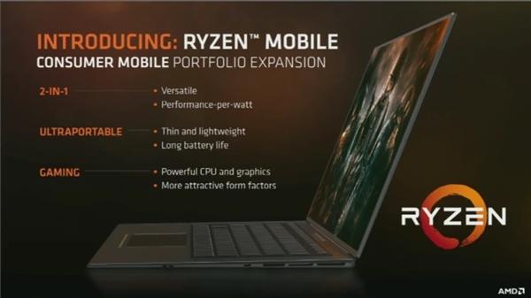 AMD自曝笔记本Ryzen 性能暴增!功耗大降