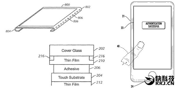 无边框+屏幕内指纹!苹果新专利显示iPhone 8外形确定
