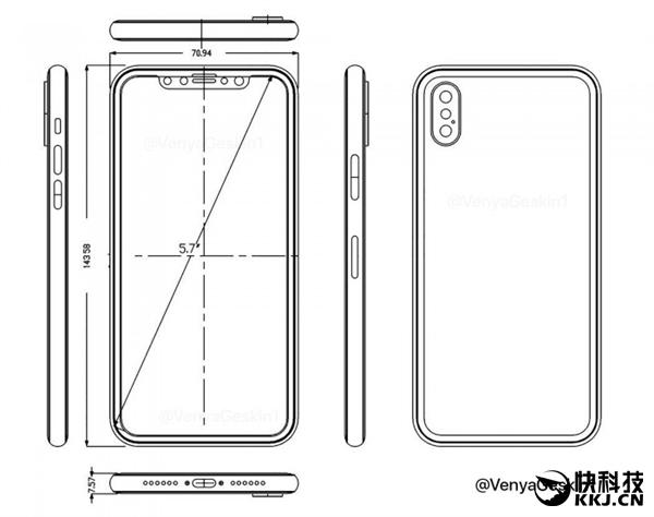 对比iPhone 7!5.7英寸iPhone 8体积是这样:厚但小巧