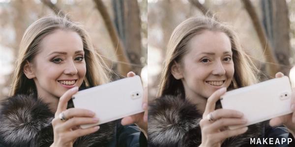 这款APP能彻底扒掉女友的妆容 对比照惊人