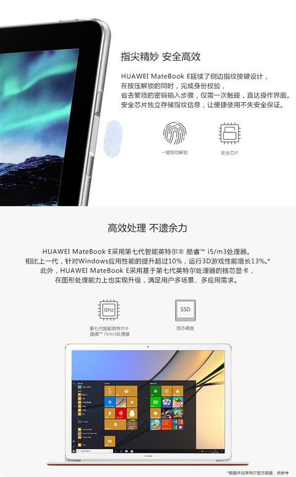 华为发布MateBook E二合一笔记本:2K屏/6.9mm