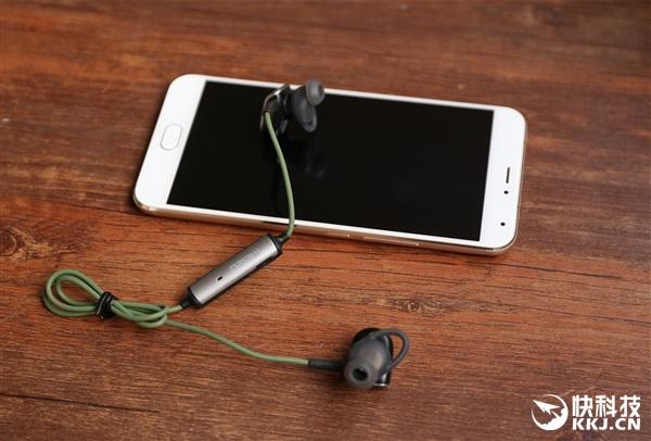 魅族EP51蓝牙运动耳机丛林绿版开箱图赏:仅1枚硬币重