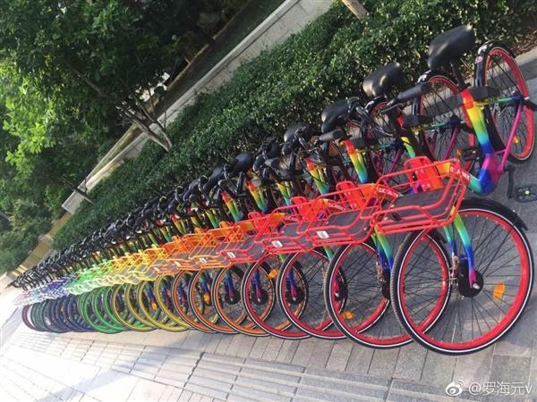 七彩单车发布新车:7种颜色搭配夜光车轮