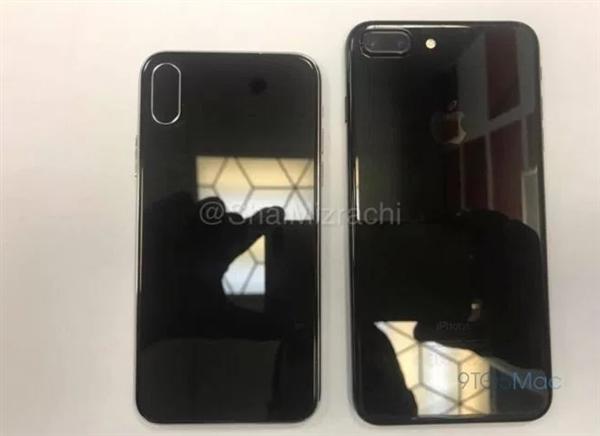 对比iPhone 7 Plus!iPhone 8黑色版曝光:特别