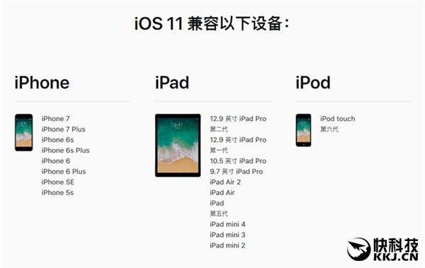 神速!苹果放出iOS 11公测版:这些机型都能更新