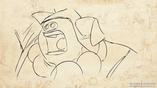 """以《西游记》为灵感打造的动作冒险游戏《非常英雄(Unruly Hero)》在E3 2017上亮相,画风看起来非常有趣。 今日这款由Magic Design Studios开发的游戏公布了新的角色宣传片""""Ki Hong"""",也就是玩家非常熟悉的二师兄猪八戒了。 在《非常英雄》的八戒预告中,可以看到一些角色的概念设计和动作场景,还有二师兄过关斩将的精彩画面,游戏目前都没有公布太多细节,只知道《非常英雄》支持4人合作,以及在线的PVP模式。"""