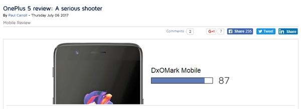 超越iPhone 7!权威机构公布一加5拍照得分:87分