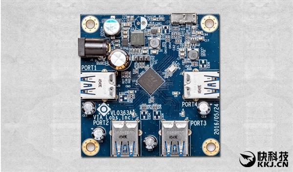 全球第一个全速USB 3.1 Hub诞生:四个接口同时跑满10Gbps