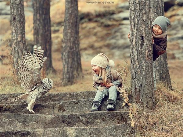 戰斗民族唯美的兒童攝影:從小就彪悍