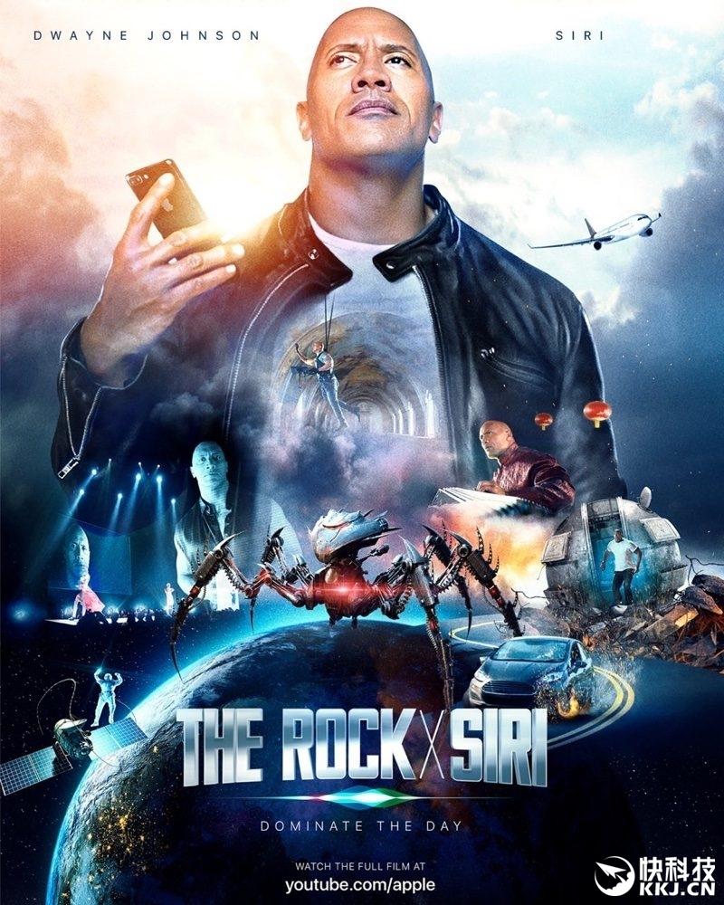 """昨天苹果已经预告,他们自拍的科幻大片即将上映,如果你在等待它,现在就来看看吧,国内那配音简直让人抓狂到家。 这部The Rock X Siri电影,主演是好莱坞动作巨星强森,而影片细节也足够穿越,汽车追逐、太空旅行、外星人战斗等等。 对于这部电影,强森在宣传时强调,这部电影是有史以来""""最受欢迎、最酷、最疯狂、最令人兴奋、最有趣""""的电影。 剧情好不好看先不说,就那配音简直就没法看下去,有网友甚至调侃,你能坚持看5秒算我输."""