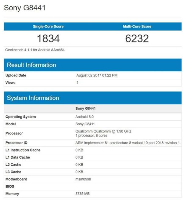 安卓8.0加持!索尼XZ1 Compact现身:骁龙835/4.6寸屏