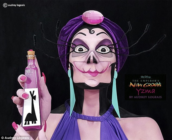 迪士尼恶棍神还原!法国化妆师展示PS一般的化妆术