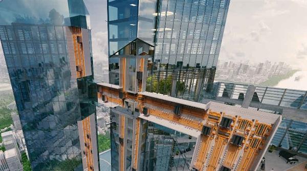 德国蒂森克虏伯研发新式无绳电梯:支持横向通行
