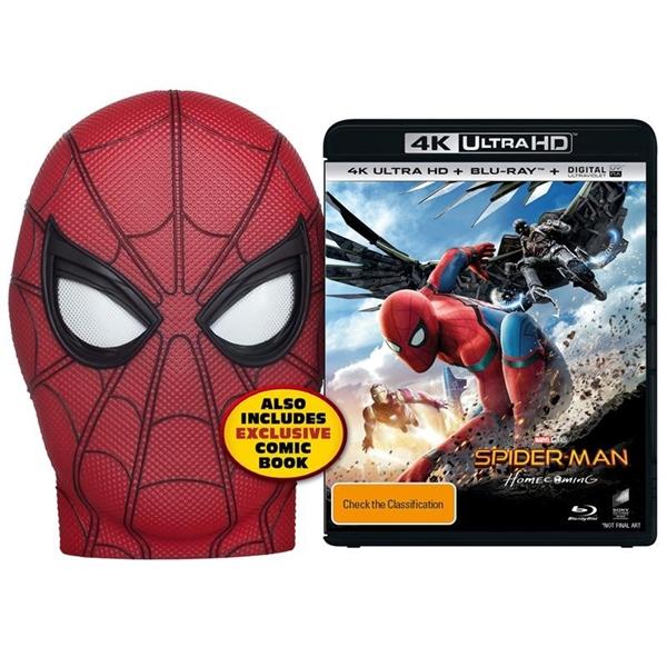 《蜘蛛侠:英雄归来》4K版公布:送小虫同款面罩