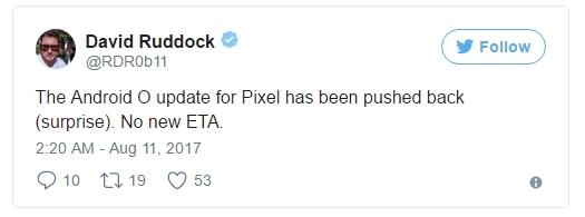 本周没戏!安卓8.0正式版发布时间跳票