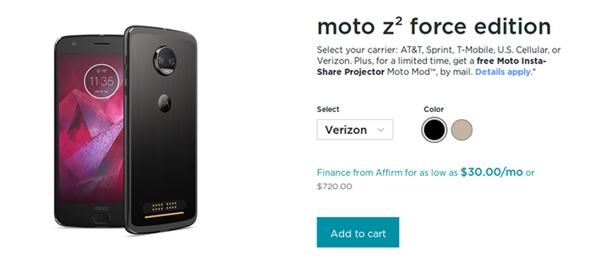联想良心!Moto Z2旗舰国行现6G内存:老外羡慕