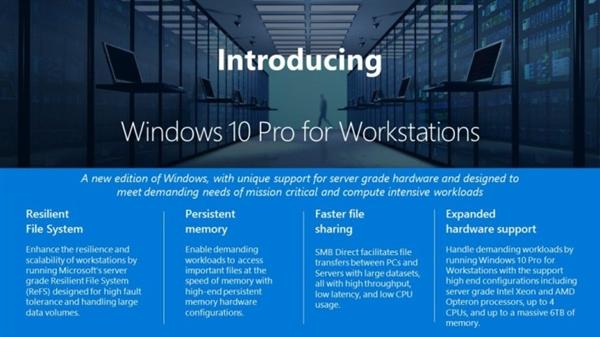 迄今最高端的Windows 10专业版推出:高性能PC专用