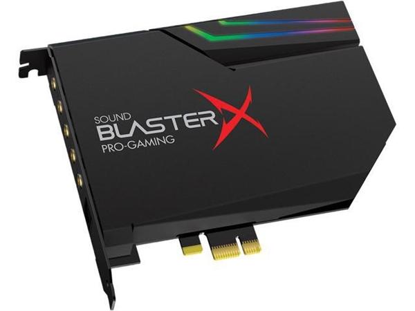 声卡也玩灯了!创新BlasterX AE-5开卖:1200元