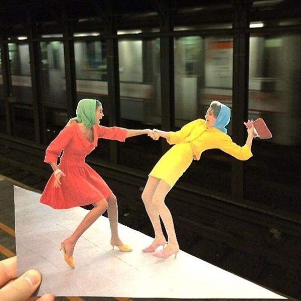把剪貼畫與現實相結合 這位藝術家震撼了時尚圈