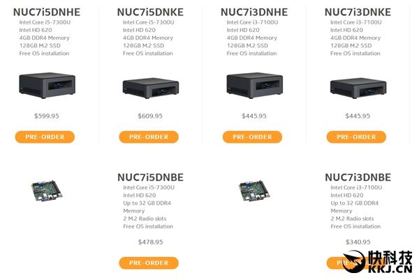 Intel悄然发布工业级新NUC迷你机:15W七代U
