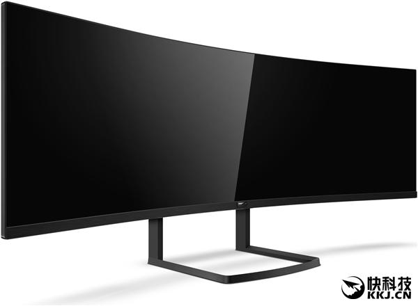 32:9最奇葩带鱼屏!飞利浦展示492P8超宽曲面显示器