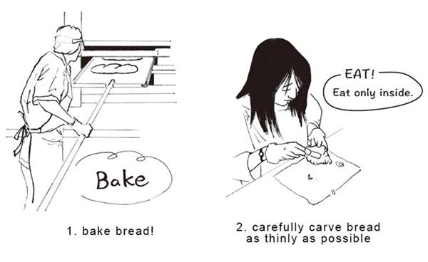 日本人脑洞又大开:面包挖空做成灯 没想到很惊艳